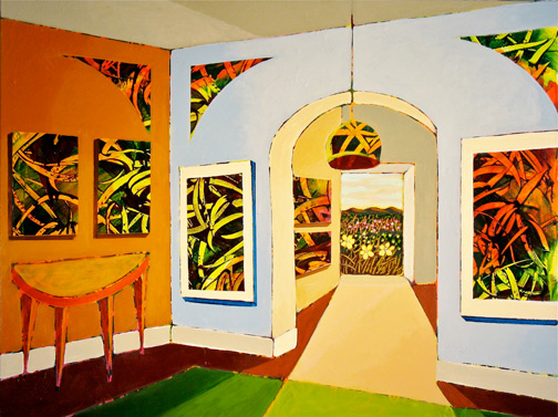 Minas Konsolas painting: Dream City Interior (Variation 3)