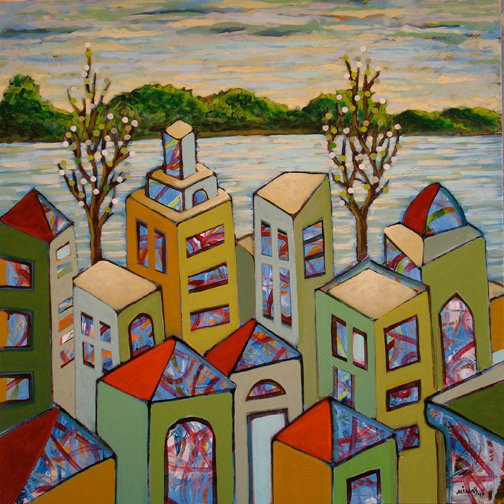 Minas Konsolas painting: Dream City (Variation 10)