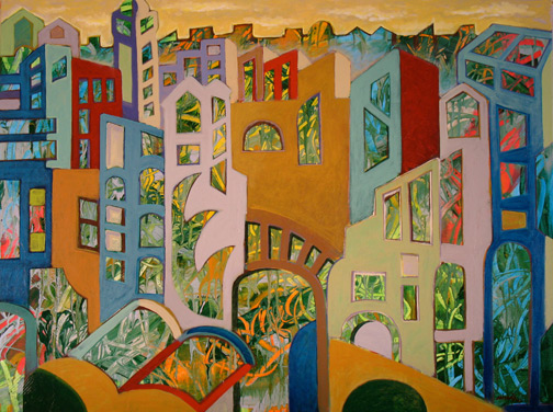 Minas Konsolas painting: Dream City for Barbara