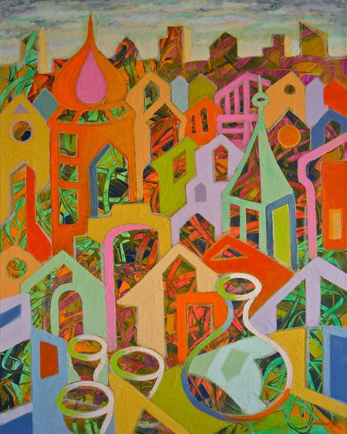 Minas Konsolas painting: Dream City (Variation 2)