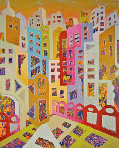 Minas Konsolas painting: Dream City (Variation 4)