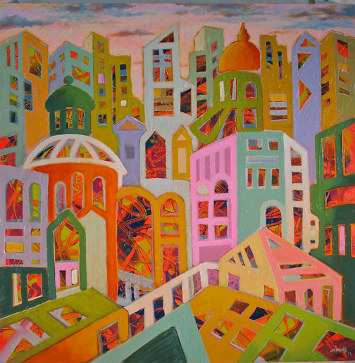 Minas Konsolas painting: Dream City (Variation 5)