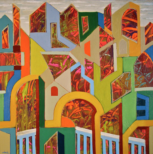 Minas Konsolas painting: Dream City (Variation 6)
