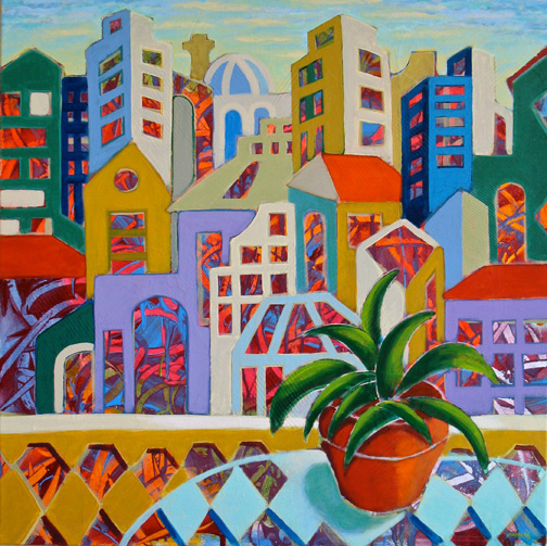 Minas Konsolas painting: Dream City (Variation 7)