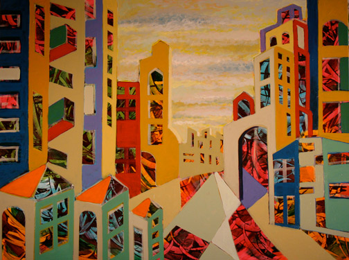 Minas Konsolas painting: Dream City (Variation 8)