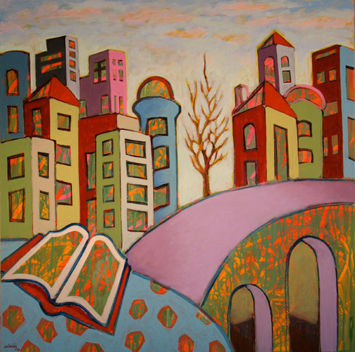 Minas Konsolas painting: Dream City (Variation 9)