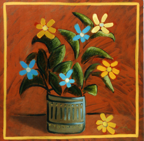 Minas Konsolas painting: Minas Konsolas painting: Flowers for Halima