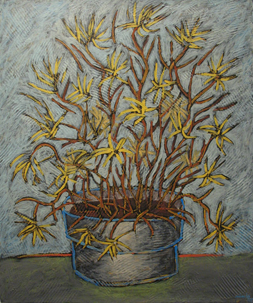Minas Konsolas painting: Flowers in a Pot (V2)