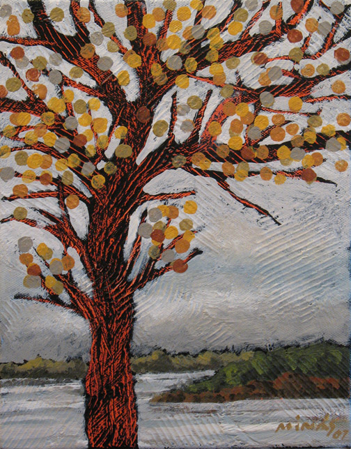 Minas Konsolas painting: A Tree is a Tree (Variation 22)